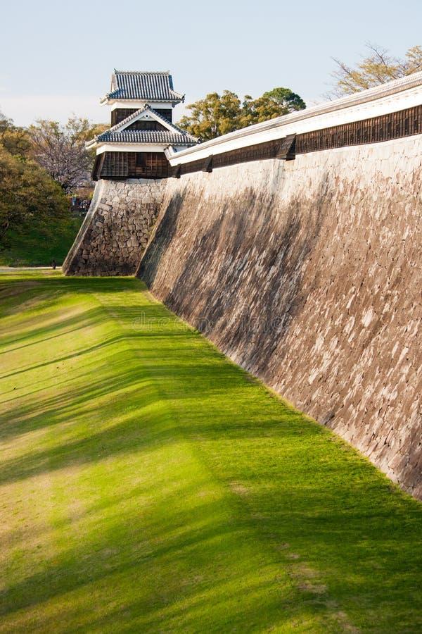 średniowieczna Kumamoto grodowa ściana zdjęcia royalty free