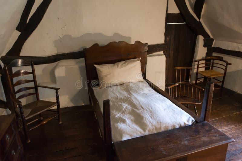 Średniowieczna nieociosana sypialnia obraz royalty free