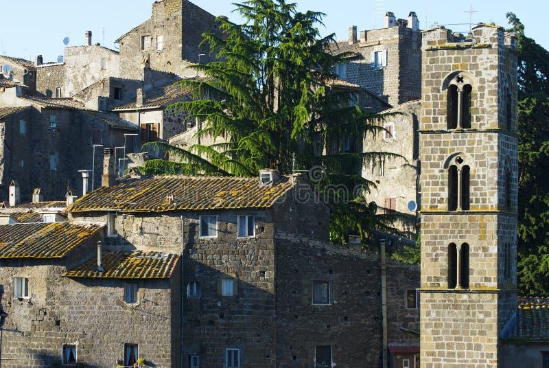 średniowieczna ronciglione wioski obrazy royalty free
