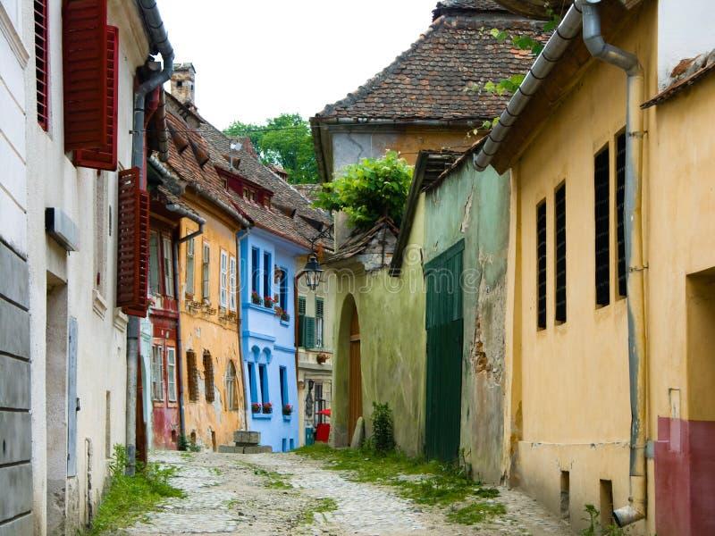 średniowieczna sighisoara street obraz stock