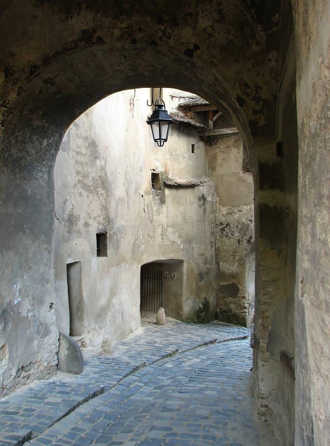 średniowieczna ulica zdjęcie royalty free