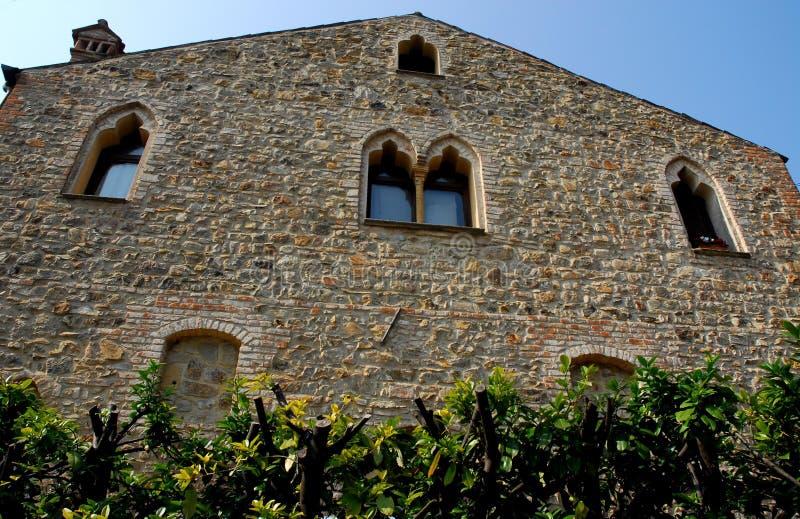 Średniowieczna willa ArquàPetrarca Veneto Włochy zdjęcia stock