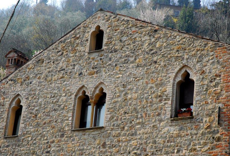 Średniowieczna willa ArquàPetrarca Veneto Włochy fotografia stock
