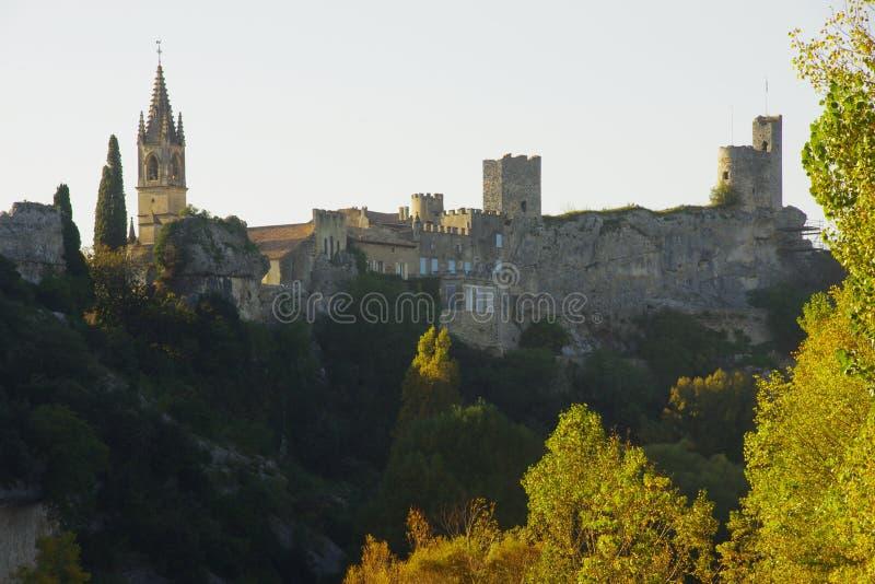 Średniowieczna wioska Ardéche Francja fotografia royalty free
