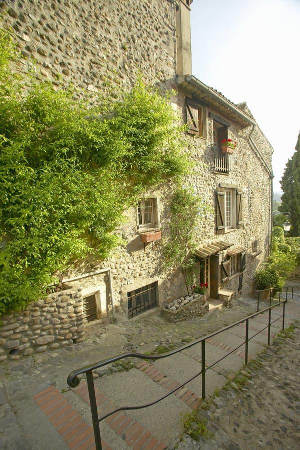 Średniowieczna wioska Haut De Cagnes, Francja obrazy royalty free
