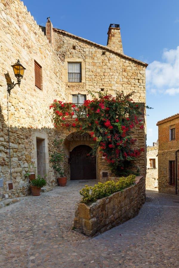 Średniowieczna wioska kumpel, Hiszpania, Europa obraz royalty free