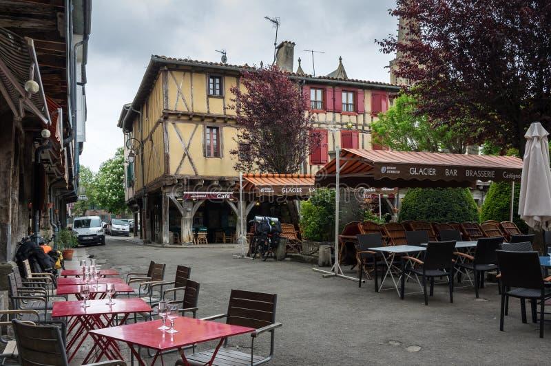 Średniowieczna wioska Mirepoix obraz stock