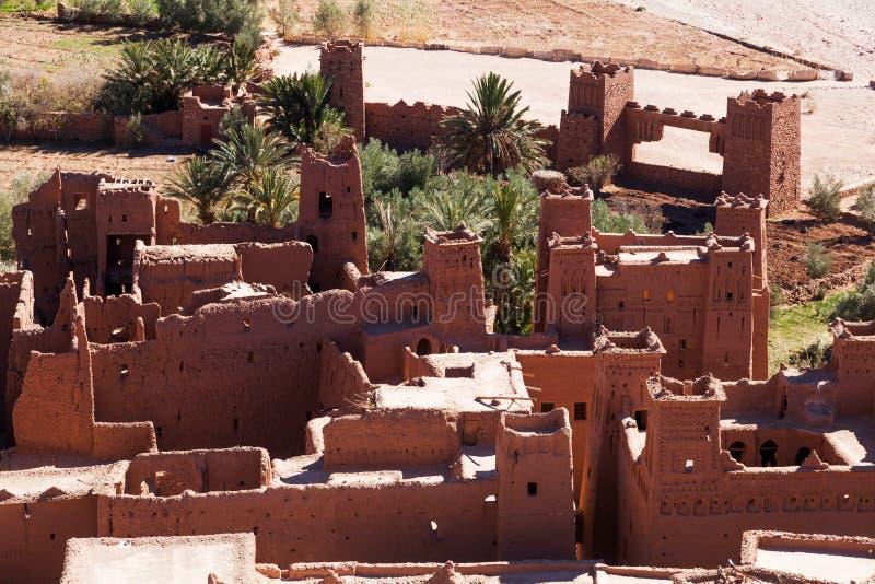 Średniowieczna wioska w Maroko obraz royalty free