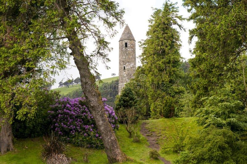 Średniowieczne irlandczyka wierza ruiny fotografia royalty free