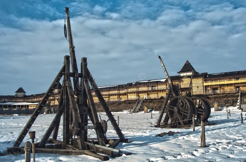 Średniowieczne oblężnicze maszyny zdjęcie royalty free