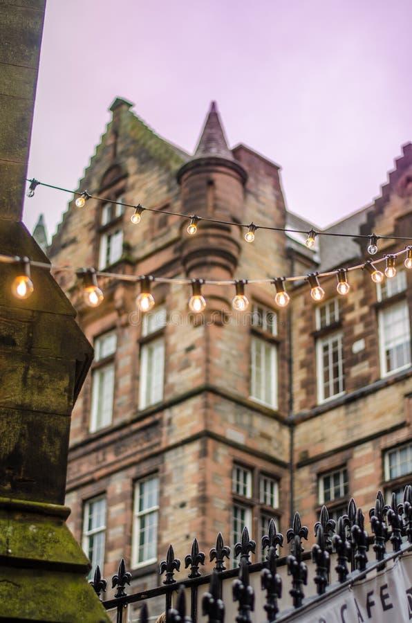 Średniowieczni budynki w starej części Edynburg, Szkocja fotografia stock