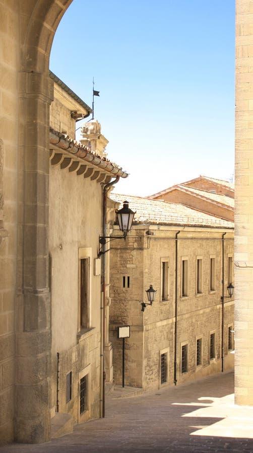 Średniowieczni domy, San Marino zdjęcia royalty free