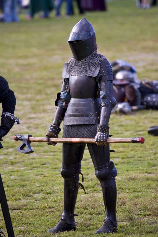 średniowieczni festiwali/lów rycerze obraz stock
