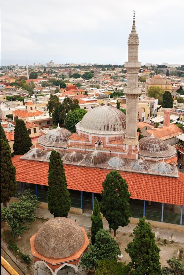 średniowieczni Greece meczety Rhodes obrazy royalty free