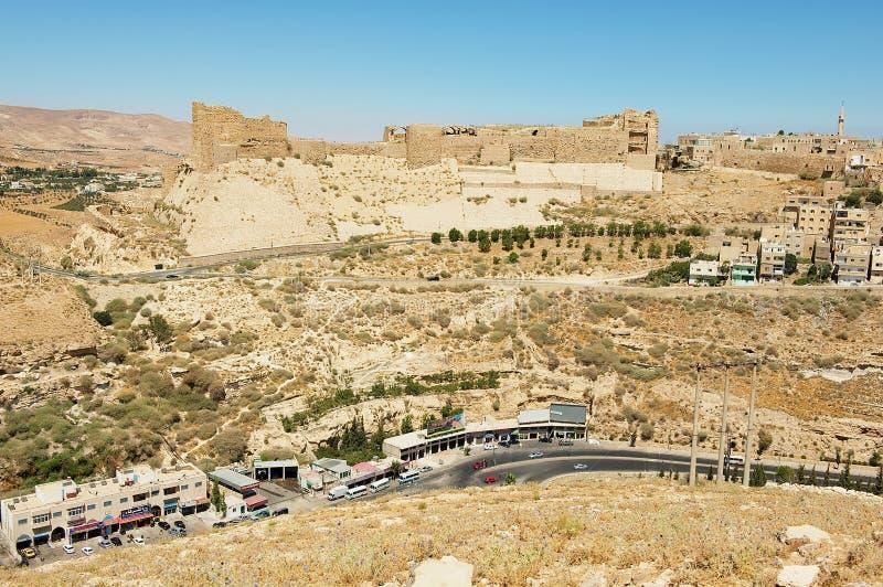 Średniowieczni krzyżowowie roszują w Al Karak, Jordania zdjęcie stock
