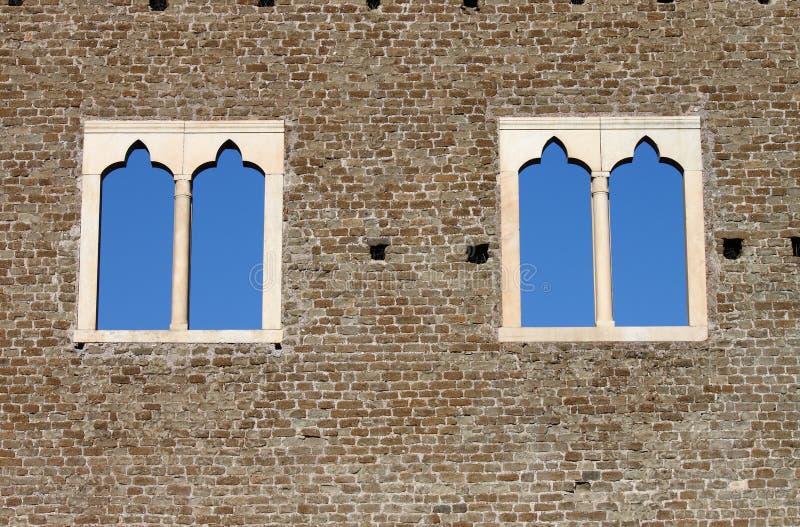 średniowieczni okno obraz stock