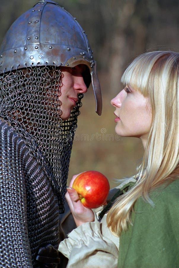 średniowieczni par potomstwa zdjęcie stock