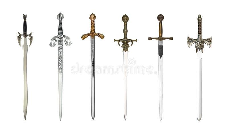 Średniowieczni różni kordziki zdjęcia stock