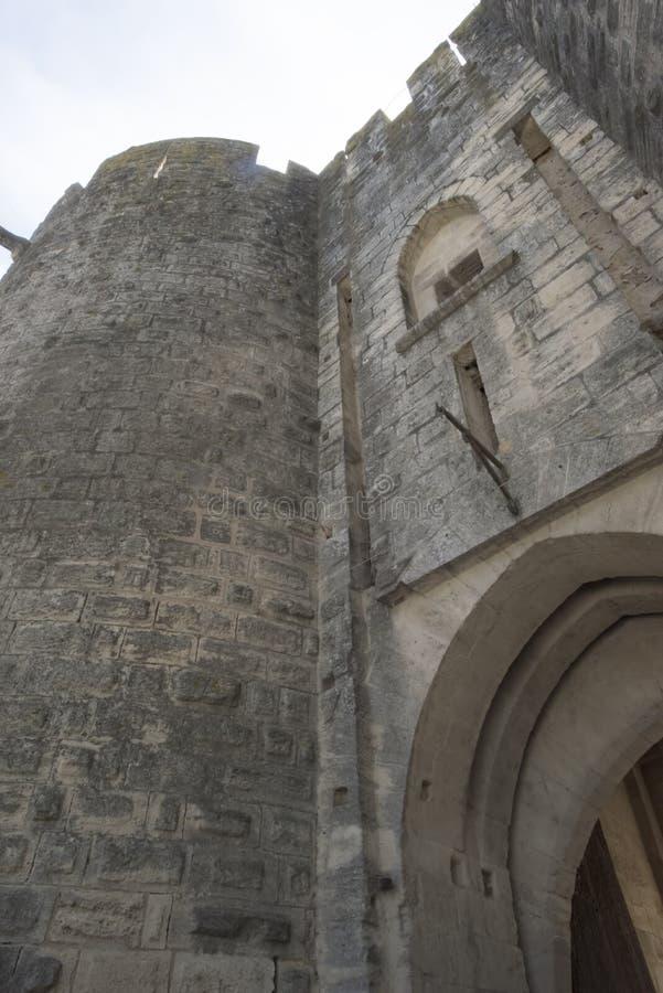 Średniowieczni ramparts, Aigues Mortes obrazy stock