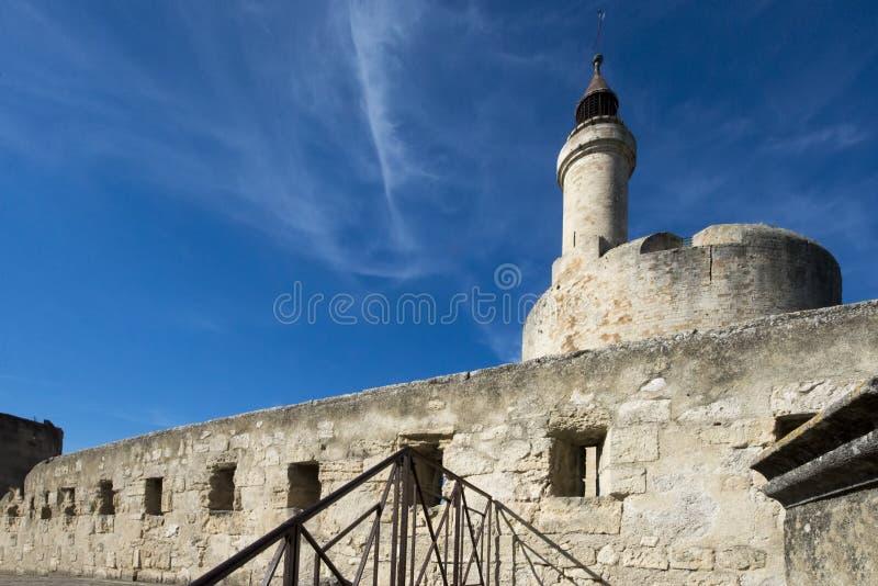Średniowieczni ramparts, Aigues Mortes zdjęcie stock