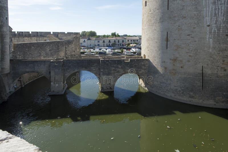 Średniowieczni ramparts, Aigues Mortes zdjęcie royalty free