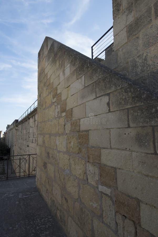 Średniowieczni ramparts, Aigues Mortes fotografia stock
