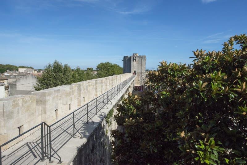 Średniowieczni ramparts, Aigues Mortes fotografia royalty free