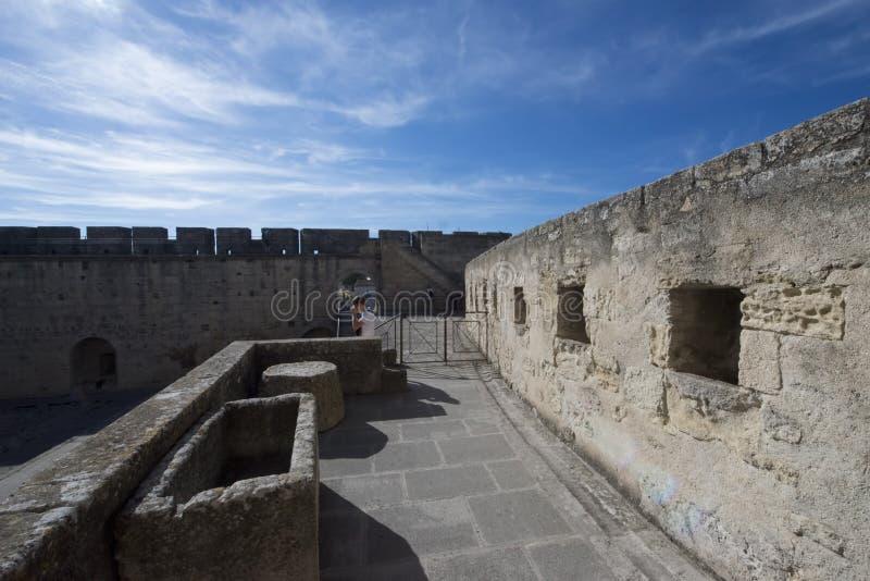 Średniowieczni ramparts, Aigues Mortes obraz royalty free