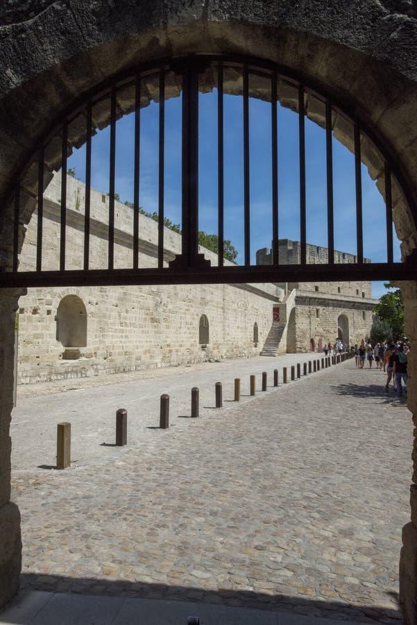 Średniowieczni ramparts, Aigues Mortes obrazy royalty free