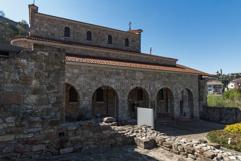 Średniowieczny Święty Czterdzieści męczenników kościół - Wschodni Ortodoksalny kościół budujący w 1230 w miasteczku Veliko Tarnov zdjęcie royalty free