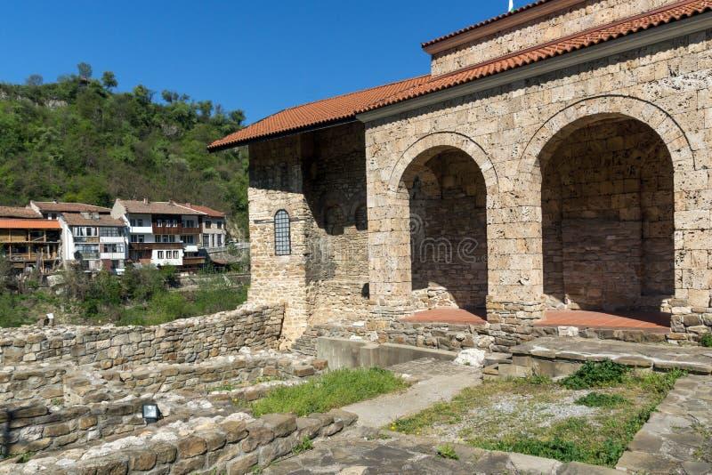 Średniowieczny Święty Czterdzieści męczenników kościół - Wschodni Ortodoksalny kościół budujący w 1230 w miasteczku Veliko Tarnov obraz stock