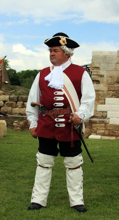 średniowieczny żołnierz fotografia royalty free