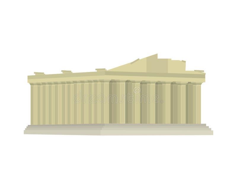 Średniowieczny Athens architektury clastle projekt ilustracja wektor