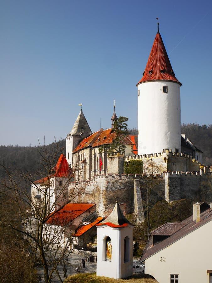 Średniowieczny bajka kasztel Krivoklat zdjęcie royalty free