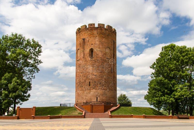 Średniowieczny basztowy grodzki Kamenetz, Białoruś obrazy royalty free