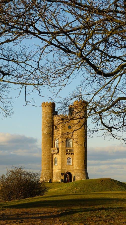 Średniowieczny Broadway wierza w Cotswold, Worcestershire, Anglia, Zjednoczone Królestwo zdjęcie stock