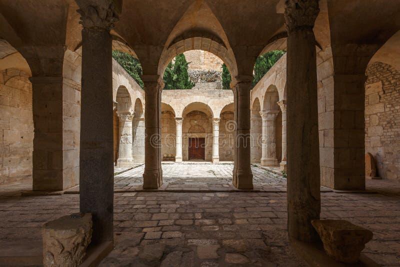 Średniowieczny byzantine kościelny wnętrze w El Kef miasteczku obrazy royalty free