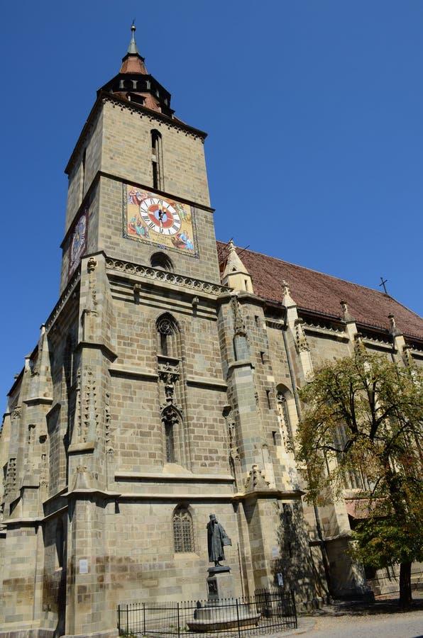 Średniowieczny czarny kościół w Brasov, Transylvania, Rumunia zdjęcie stock