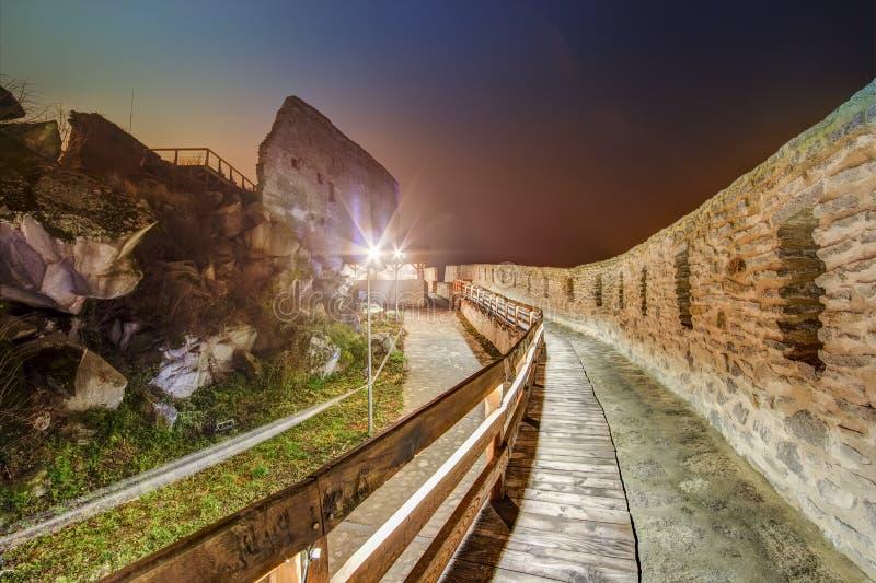 Średniowieczny Deva forteca w Europa, Rumunia obrazy royalty free