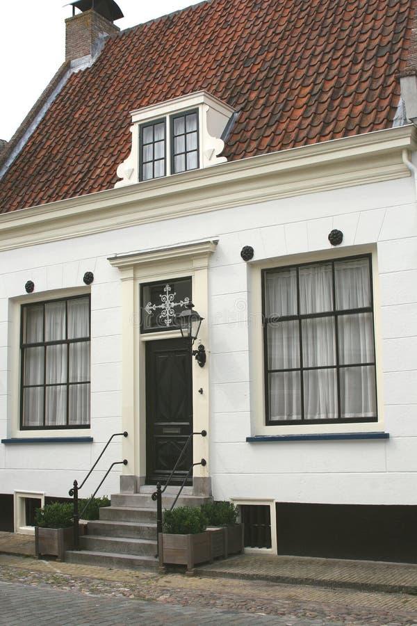Średniowieczny dom w tradycyjnym holendera stylu, Naarden, holandie zdjęcia royalty free