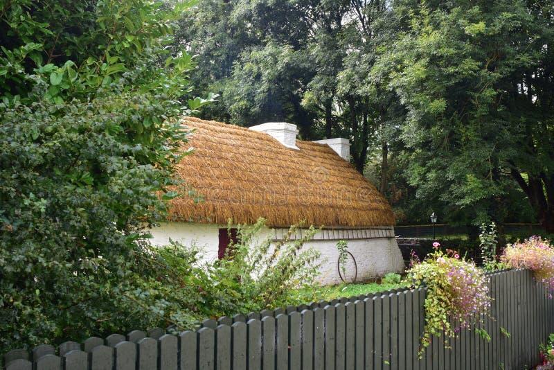 Średniowieczny dom z słoma dachem obraz royalty free