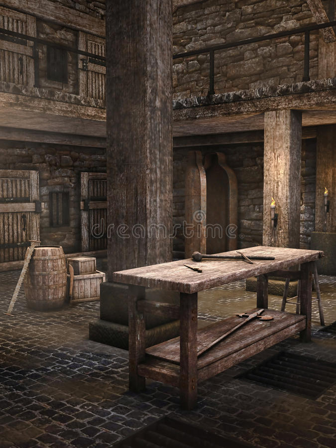 Średniowieczny dungeon royalty ilustracja