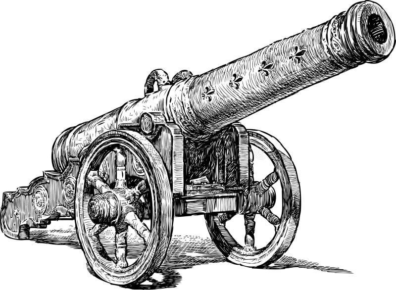 Średniowieczny działo ilustracja wektor