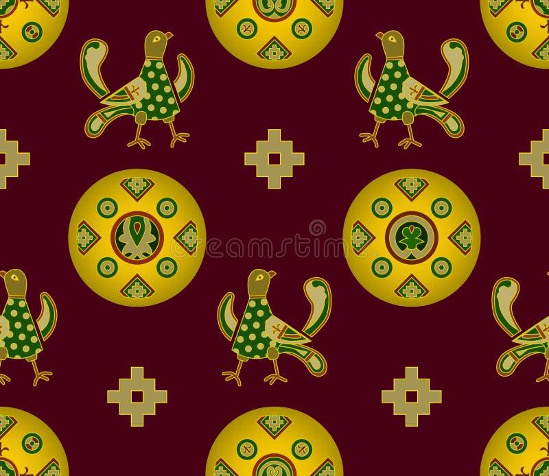 średniowieczny elementu ornament royalty ilustracja