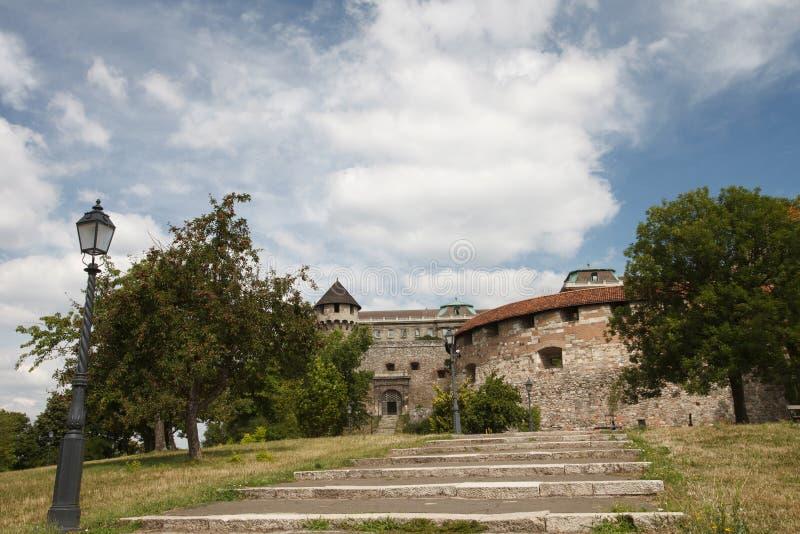 Średniowieczny forteca Buda kasztel w Budapest zdjęcia royalty free