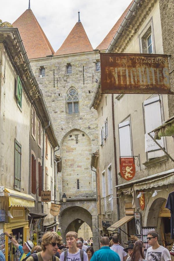 Średniowieczny forteca Carcassonne obraz stock