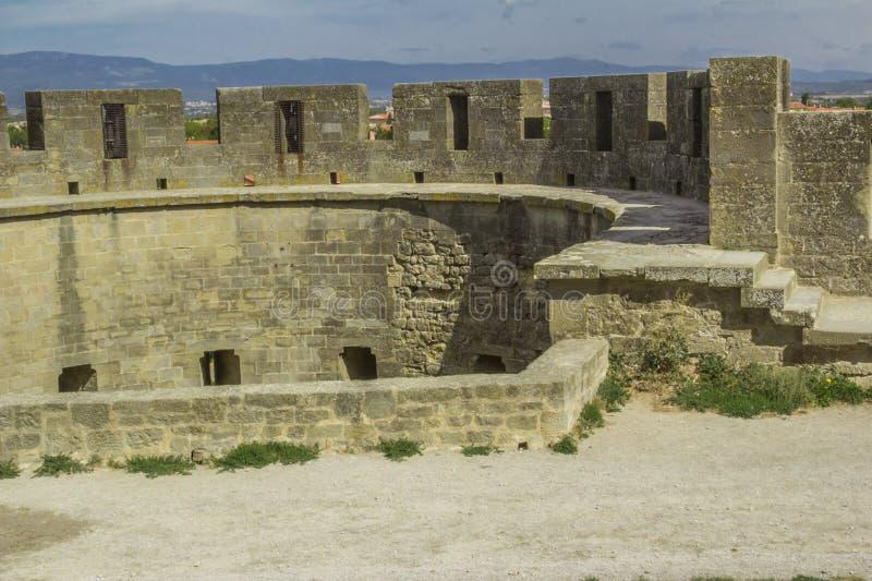 Średniowieczny forteca Carcassonne fotografia royalty free