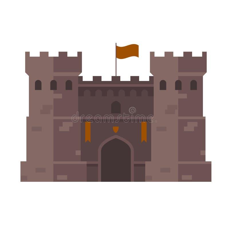 Średniowieczny forteca - forteca góruje ilustracji