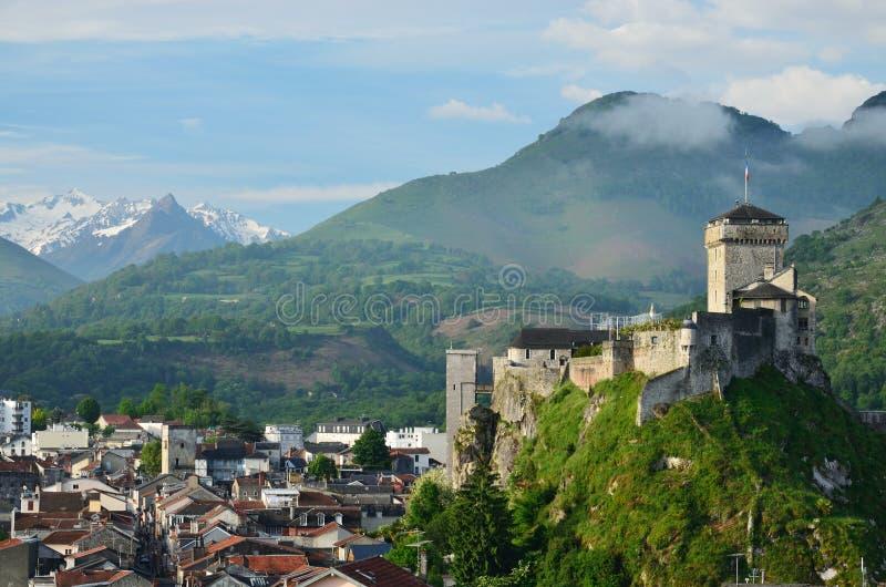 Średniowieczny forteca Lourdes zdjęcie royalty free