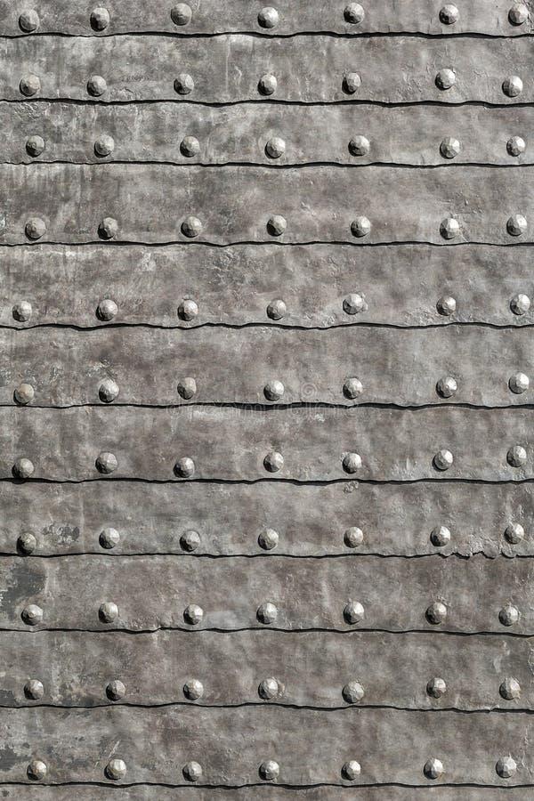 Średniowieczny Forteczny Opancerzony żelazo Matrycujący brama Drzwiowy szczegół zdjęcie stock